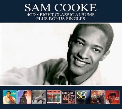 Sam Cooke EIGHT (8) CLASSIC ALBUMS Hits Of The 50s ENCORE Songs By NEW 4 CD