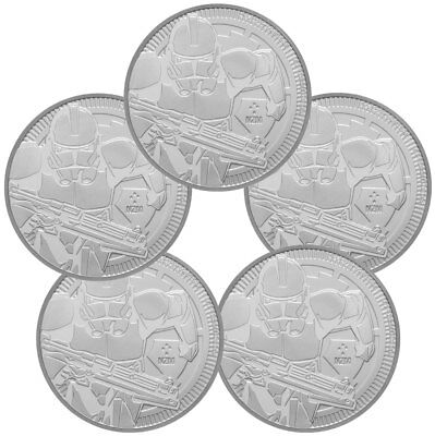 Lot of 5 2019 Niue Star Wars Classic Clone Trooper 1oz Silver $2 GEM BU SKU56664
