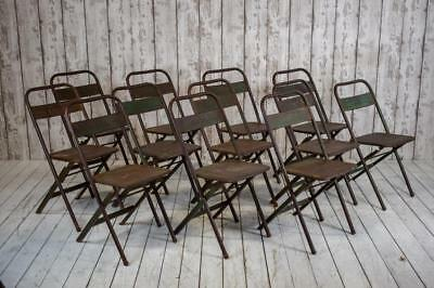 Job Lot of 12 Vintage Industrial Folding Garden Cafe Bar Chairs (PRICE INC VAT)