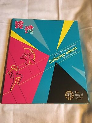 The Royal Mint London Olympics 2012 Sports 50p Collector Album Complete 30 Coins