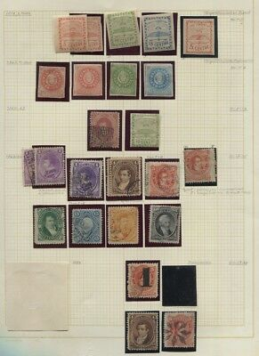 Argentina Mint / Used Collection on Album Pages + Covers, Postal Cards 17 Scans