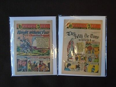 Lot ~ HEROES ALL Catholic Action Illustrated Comics ~ Vol. 4 No. 9 and No. 14