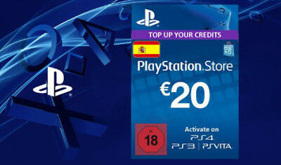 20€ Euro PlayStation Network Card Spain ES PSN ps4 Key DIGITAL Prepaid