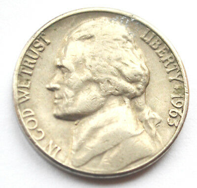 USA America 5 Cents 1963D