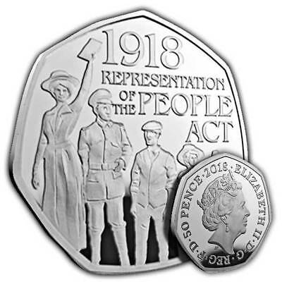 Rare 50p Coin UK Representation of The People Act 2018 Fifty Pence Uncirculated