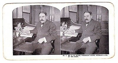 Part Set 49/50 Printed Stereo Cards.USA c1908Sears Roebuck Store.Chicago(E11p)