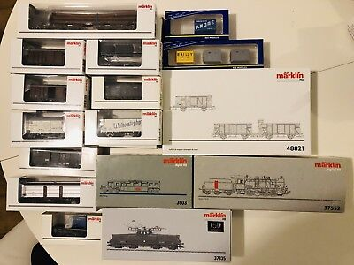 Marklin HO Collection Of New And Used Locomotives And Freight Cars SNCF, NS,SBB,