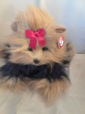 TY Classic Beanie Large Yappy Yorkie Yorkshire Terrier Dog Plush Toy 1997 12""