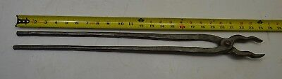 Vintage Heller Usa Blacksmith Tongs Forged Anvil Knife Making Iron Forge #1