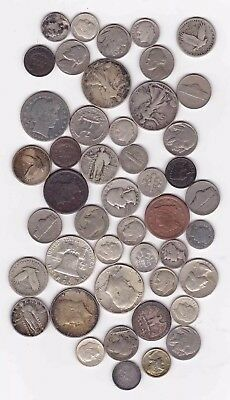 United States Type Coin Collection, 90% Silver & More, $7.40 Face