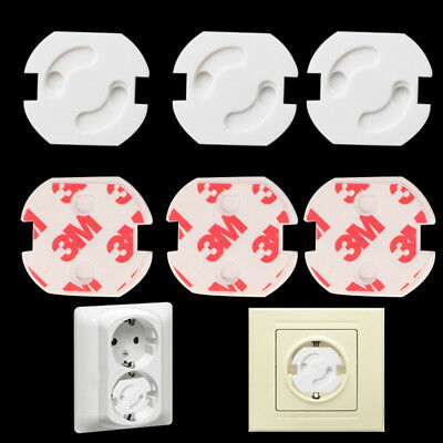10Pcs Baby Safety Electric Socket Outlet Plug Lock Cover Protector For Children