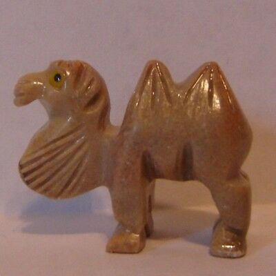 """Camel Figurine Carved Marble material 1 1/2"""""""