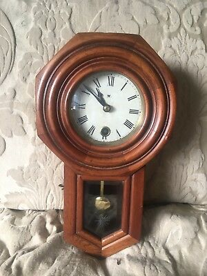 Wooden Wall Clock Spring wound