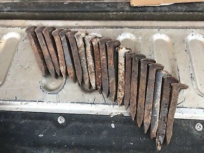 One Lot Of 19 Railroad spikes, Solid Heavy Metal Crafts Welding