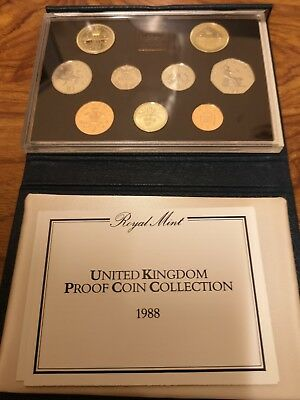 1988 coinage of Great Britain 7 coin proof set