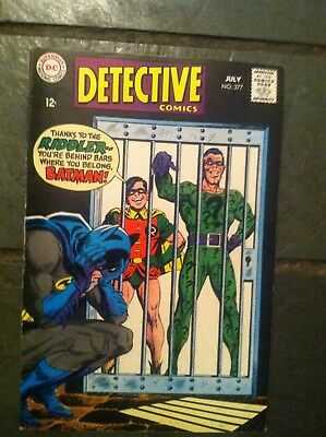 Batman In Dc Detective Comics #377 July 1968 Vg++ Silver Age Riddler Cover