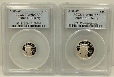 2006 W 4 Piece Proof Platinum American Eagle Set - PCGS Certified PR69 DCAM !!