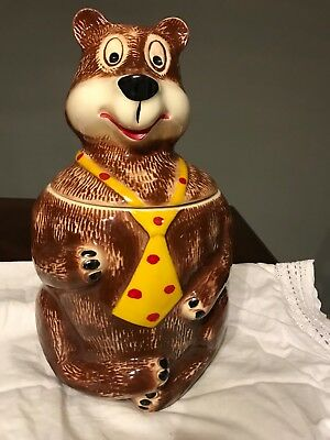 MCCOY HAMM'S BEAR Vintage COOKIE JAR marked 148 USA 1970s