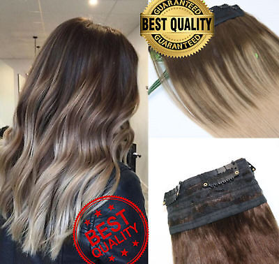Extra Thick Real Remy Human Hair Extensions ONE PIECE Clip in Double Weft `UK
