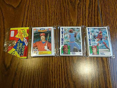1984 Topps Baseball Unopened Rack Pack With Ozzie Smith On Back