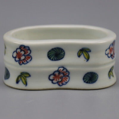 China old  porcelain famille rose glaze flower  pattern writing brush washer b01