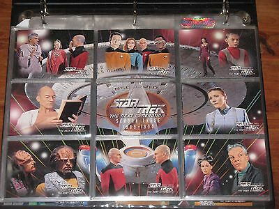 ~Star Trek Next Generation Season THREE Collectible Trading Cards & Binder~