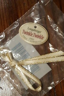 "2001 Longaberger ""Twinkle Twinkle"" Tree Trimming Basket Tie~On NIP"