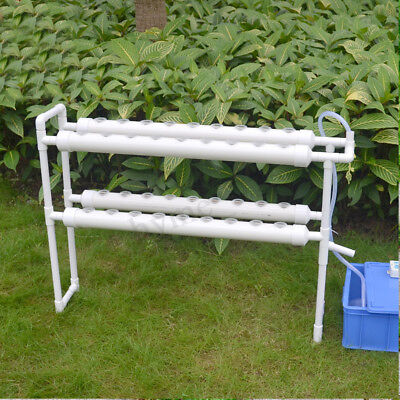 2 Layer 4 Pipes Plant Site Hydroponic System Grow Kit Indoor Outdoor Garden