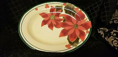 Katherines collection At Silver Lake Poinsettia Platter