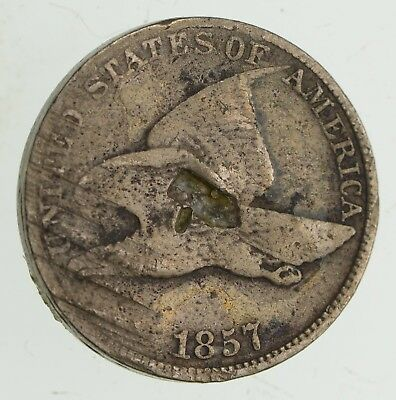 1857 Flying Eagle Cent - Very Tough - Issued for only 3 Years *713