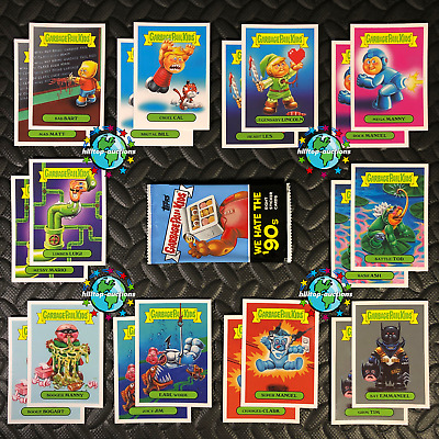 GARBAGE PAIL KIDS WE HATE THE 90s 2019 COMPLETE PURPLE JELLY 220-CARD SET +WRAP