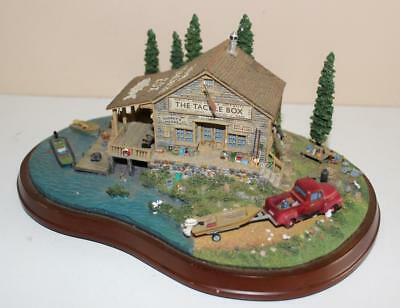 Danbury Mint The Tackle Box Fishing Boating Camping Building House Sculpture