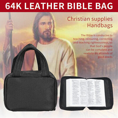 Bible Cover Zippered Protective Holy Book Tote Bag Religious Carry Case
