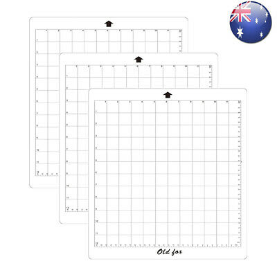 3Pack Replacement Cutting Mat Transparent Adhesive Grid for Silhouette Plotter