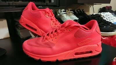 NIKE AIR MAX 90 Hyperfuse Id Solar Red Size Men's 10