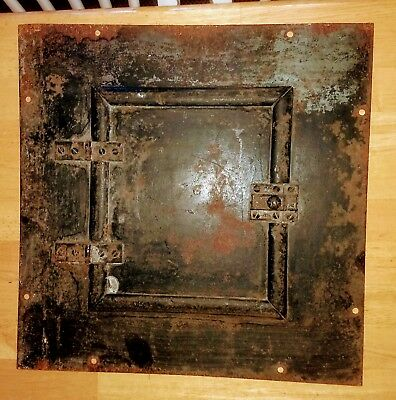 Early 1900s primitive electrical panel-fuse box door-metal-industrial-steampunk