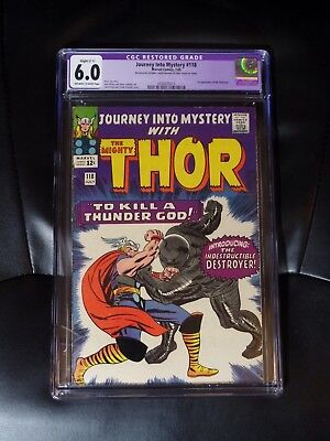Journey Into Mystery #118 CGC 6.0 — Off-white to White Pages — Restored, Slight