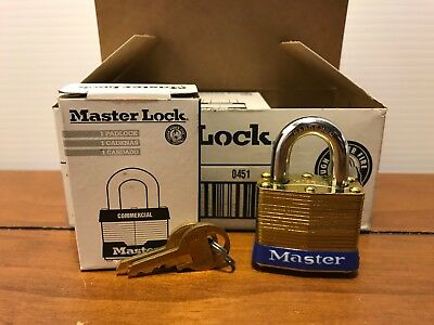 Lock Set by Master (Lot of 6) Keyed Alike  Brass 4KA Matching Same Identical NEW