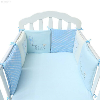 0ED9 6pcs/set Comfortable Cute Baby Crib Cotton Bumper Protector Nursery Bedding