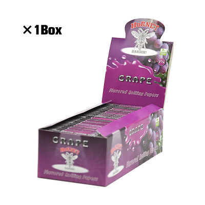 1 BOX Hornet 1 1/4 Size Fruit Flavored Smoking Cigarette Rolling Paper Random