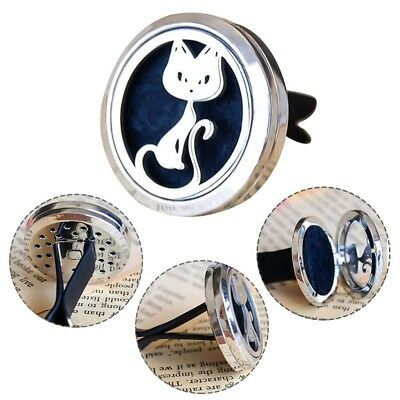 Cat Outlet Car Perfume Air Freshener Stainless Essential Oil Vent Freshener