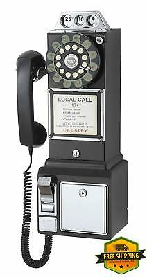 Vintage Pay Phone Old Style Retro Look Telephone Coin 1950 Payphone Cord