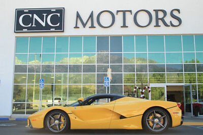 2015 Ferrari LaFerrari 2dr Coupe 2015 Ferrari LaFerrari Coupe Yellow Only 574 Miles CNC Motors Upland California