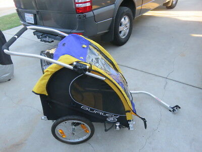 Burley solo bike towing  trailer for single child carrier also stroller look