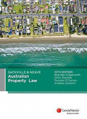 Sackville & Neave Australian Property Law 10th Edition by B. Edgeworth Paperback