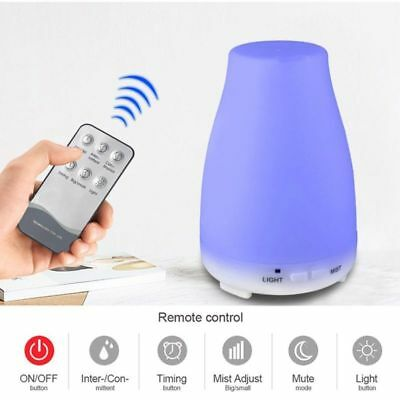 200ML Remote Control 7 Colors LED Ultrasonic Humidifier Essential Oil Diffuser