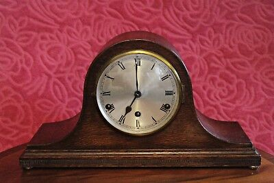 Vintage German 'D.R.G.M.' 'Dufa' 8-Day Mantel Clock with Westminster Chimes