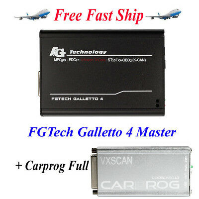 V54 FGTech Galletto 4 Master BDM-OBD Function + Carprog V10.93 With 21 Adapters