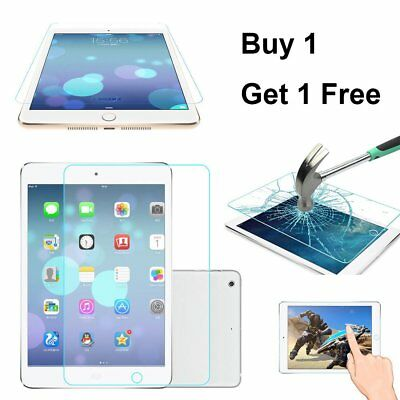 """For NEW APPLE iPad 9.7"""" 2018 Crystal Clear Tempered Glass Screen Protector Cover"""