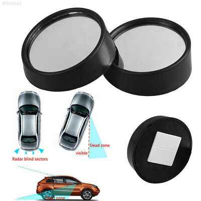 F955 2Pcs Auto Car Vehicle Side Wide Angle Round Convex Blind Spot Rearview